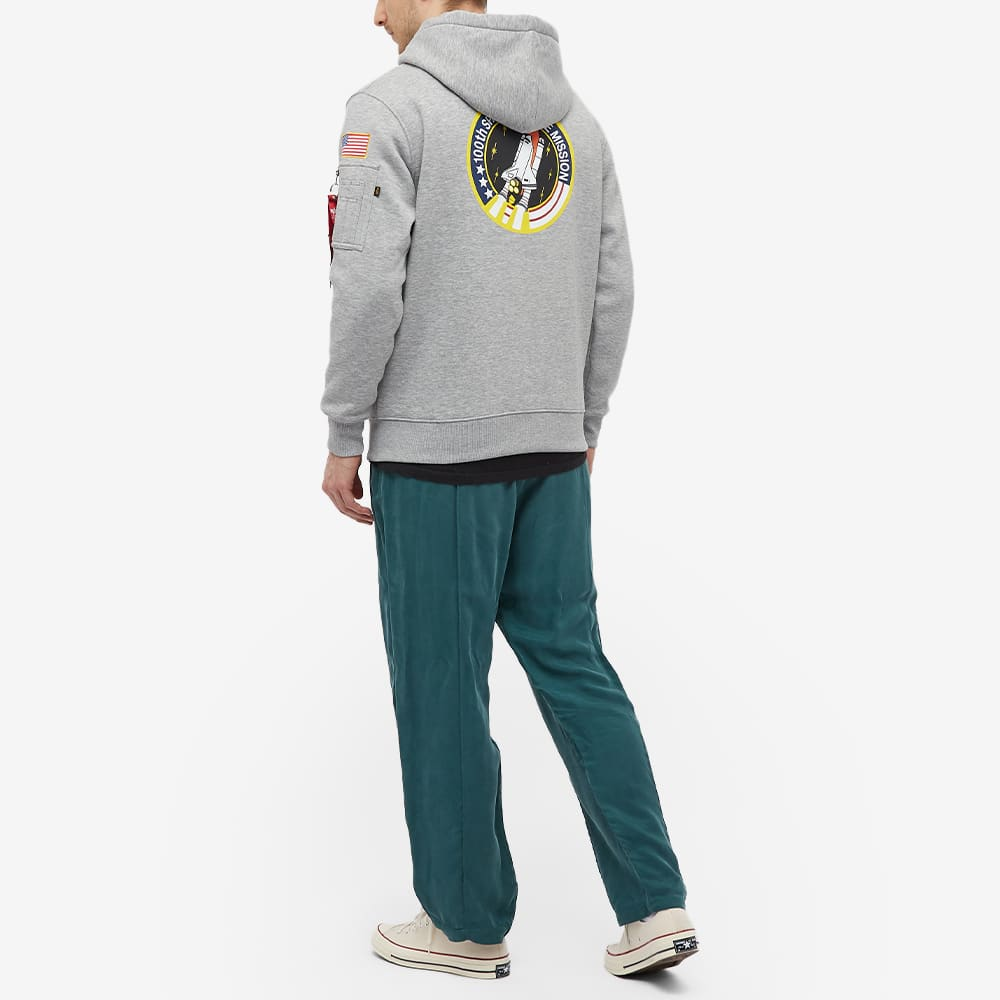 Alpha Industries Space Shuttle Hoody - END. Exclusive - Grey Heather