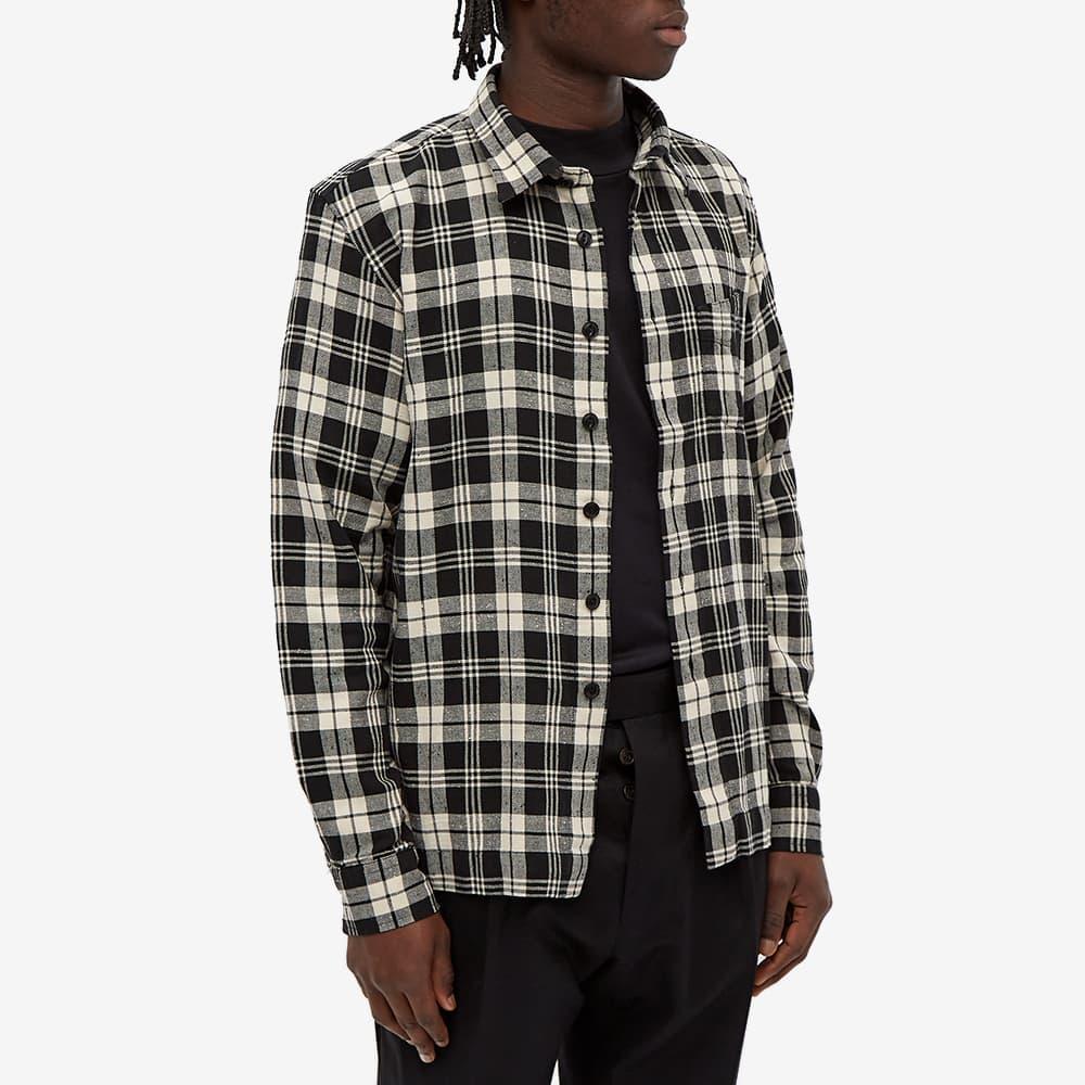 Officine Générale Sol Twill Check Overshirt - Black & Ecru