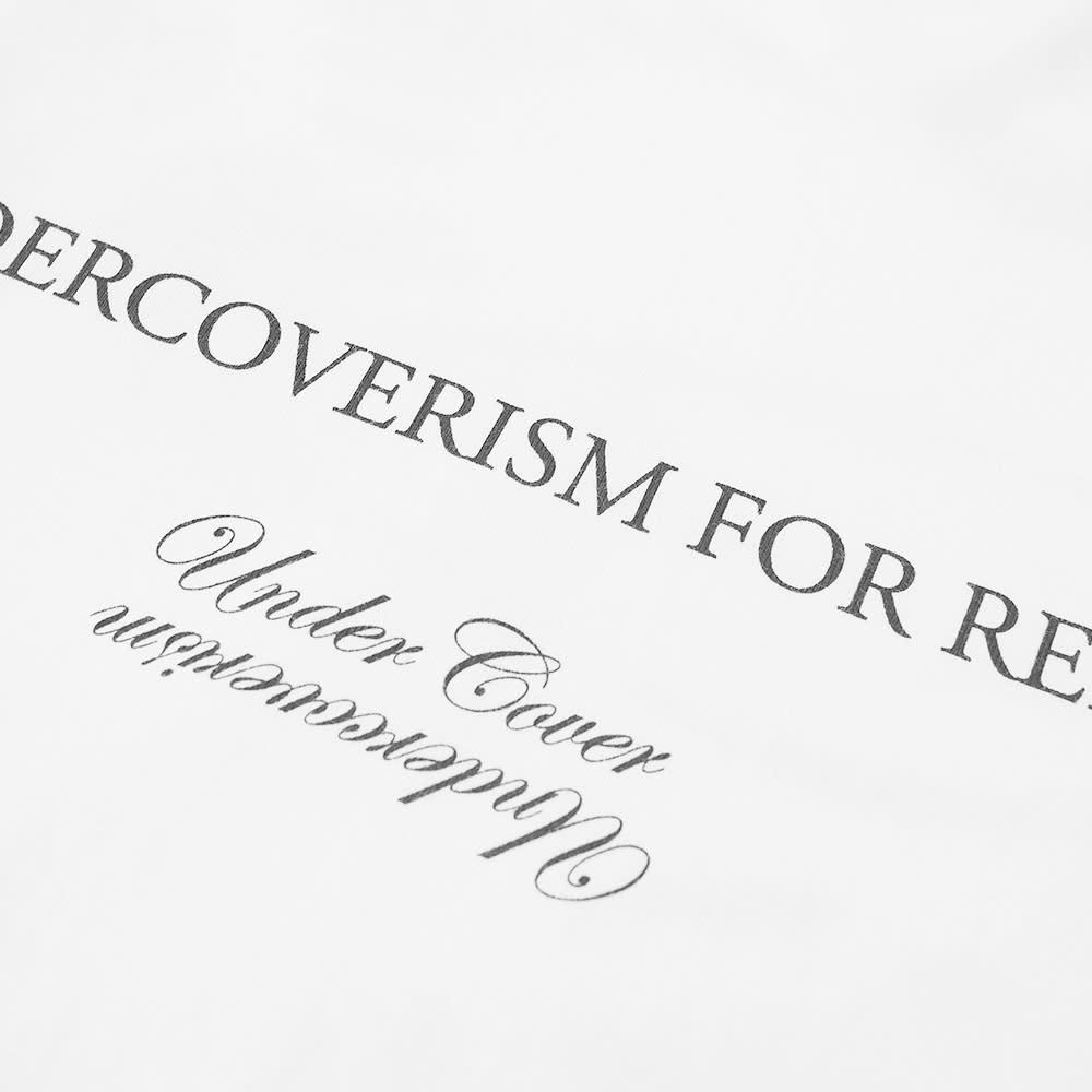 Undercover Slogan Logo Backprint Tee - White