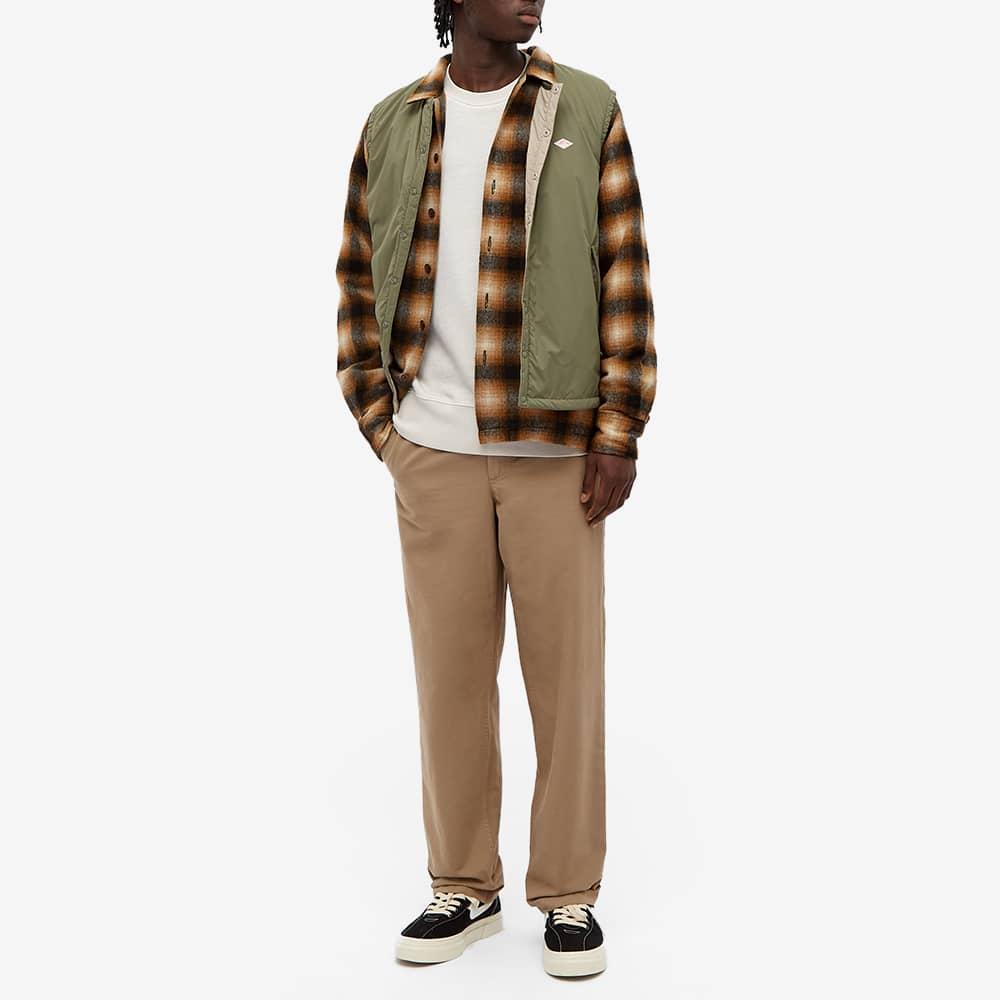 Universal Works Wool Plaid Utility Shirt - Brown Check