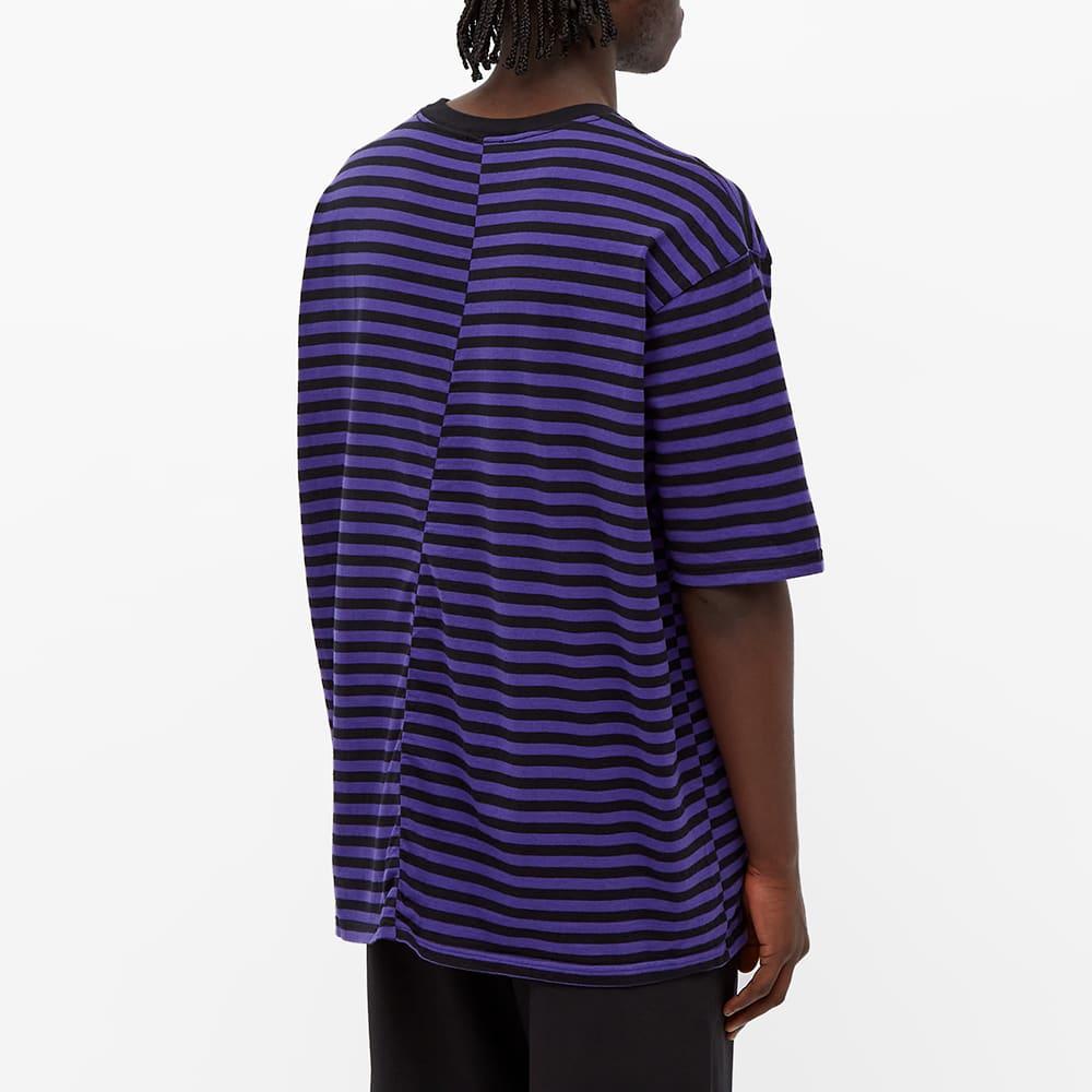 Undercoverism Back Detail Striped Oversized Tee - Purple Border