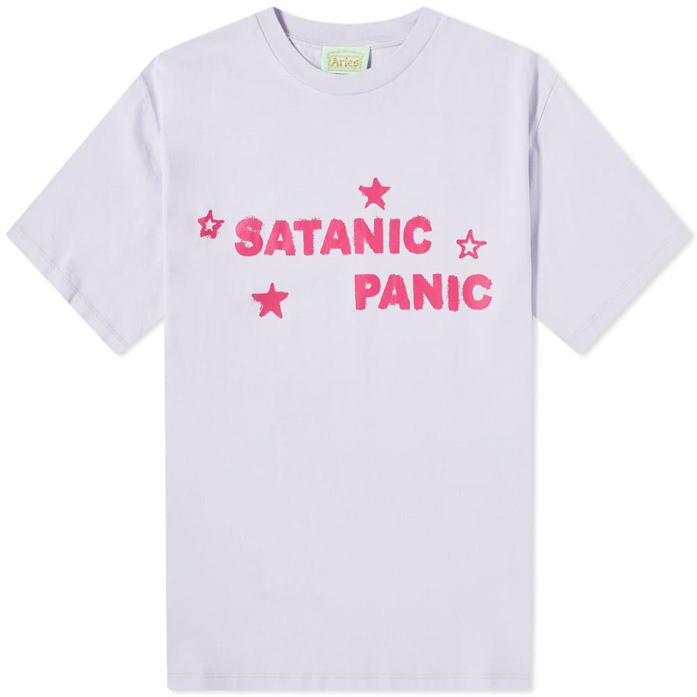 Aries Satanic Panic Tee - Lilac