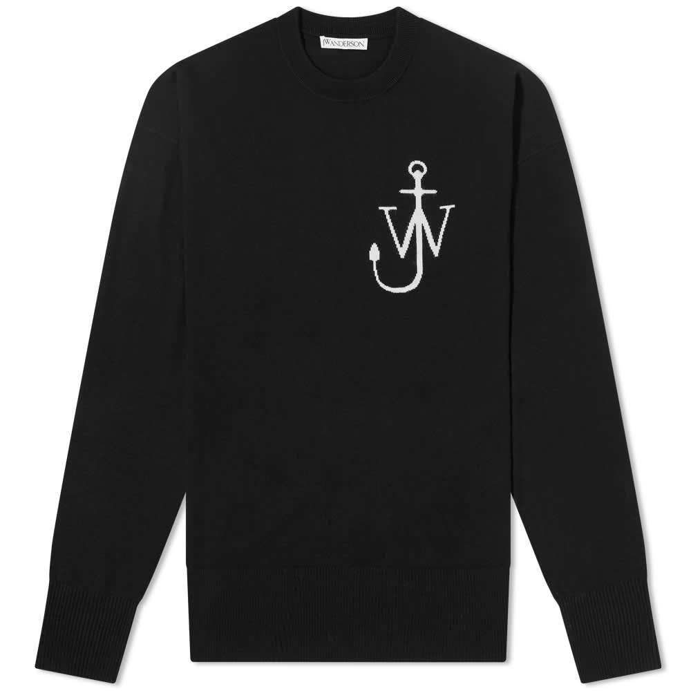 JW Anderson Anchor Crewneck Jumper - Black & White