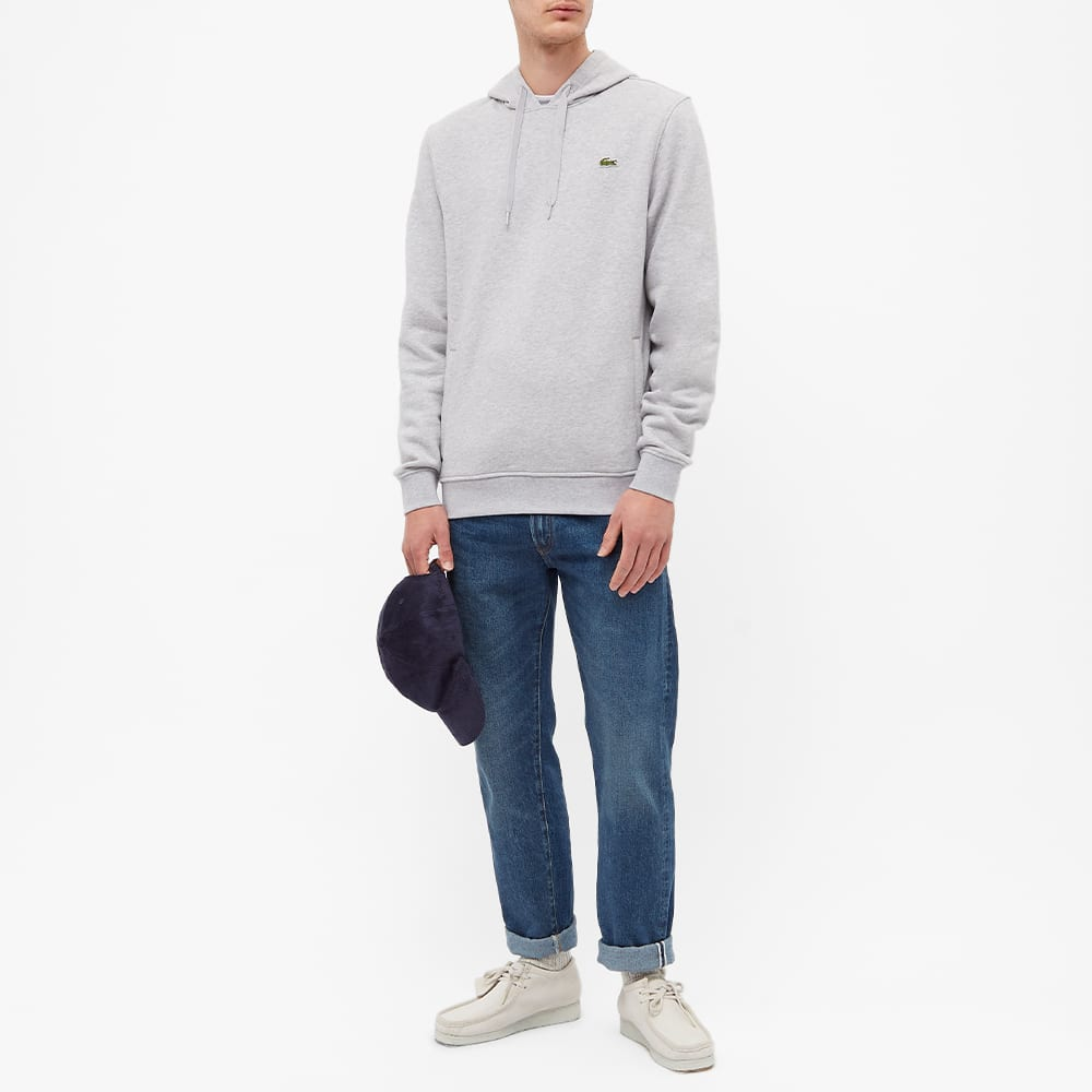 Lacoste Classic Popover Hoody - Silver Marl