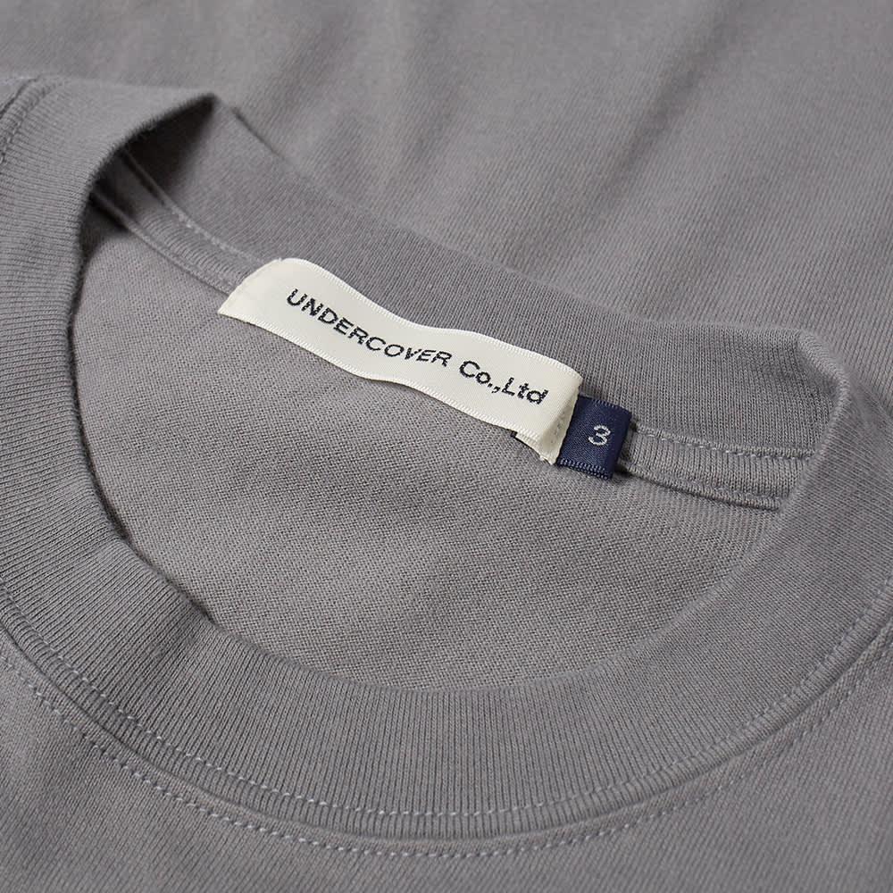 Undercover Slogan Logo Backprint Tee - Blue Grey