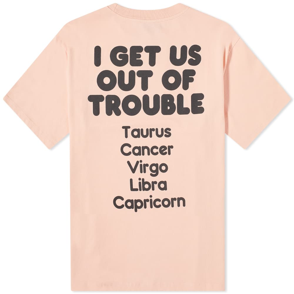 Aries Out Of Trouble Tee - Rose