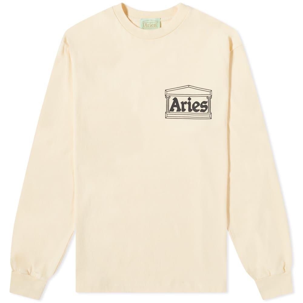 Aries Long Sleeve Temple Tee - Alabaster