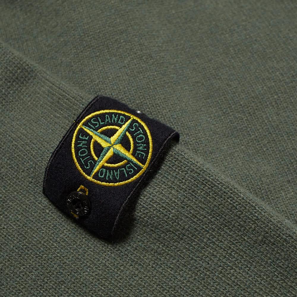 Stone Island Lambswool Half Button Knit - Sage