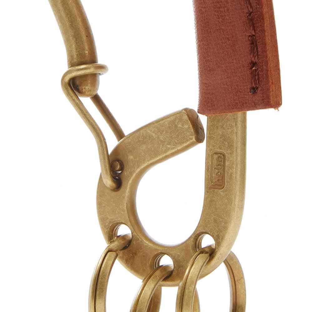 hobo Carabiner Key Ring - Brass