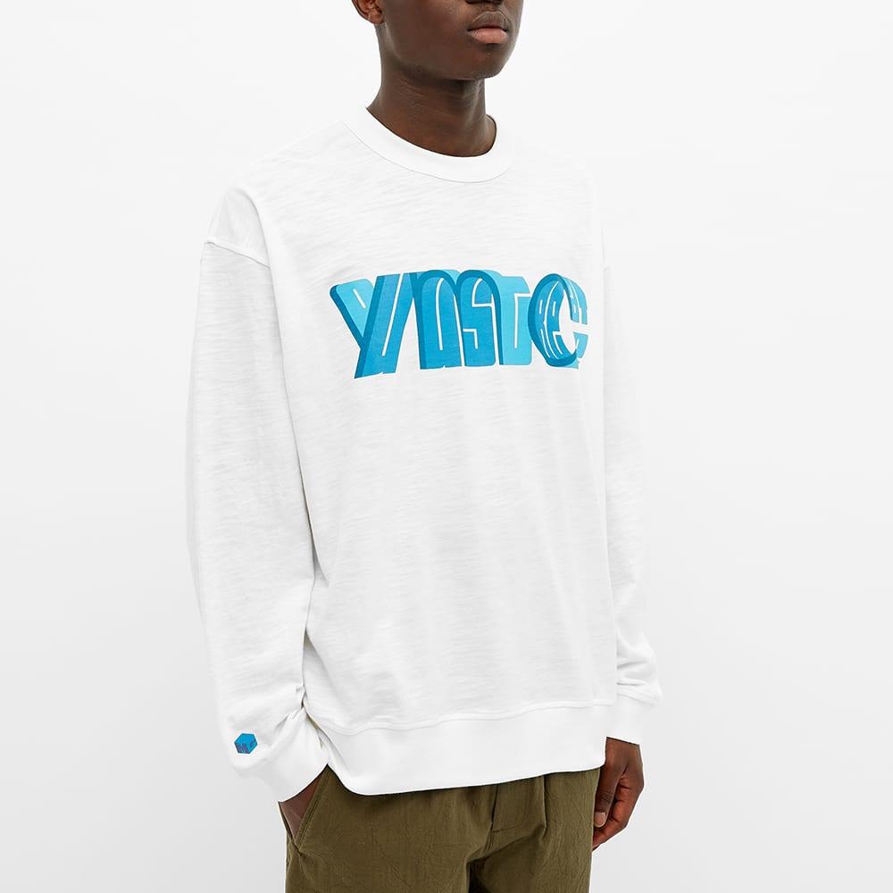 YMC x Pref Long Sleeve Logo Tee - White