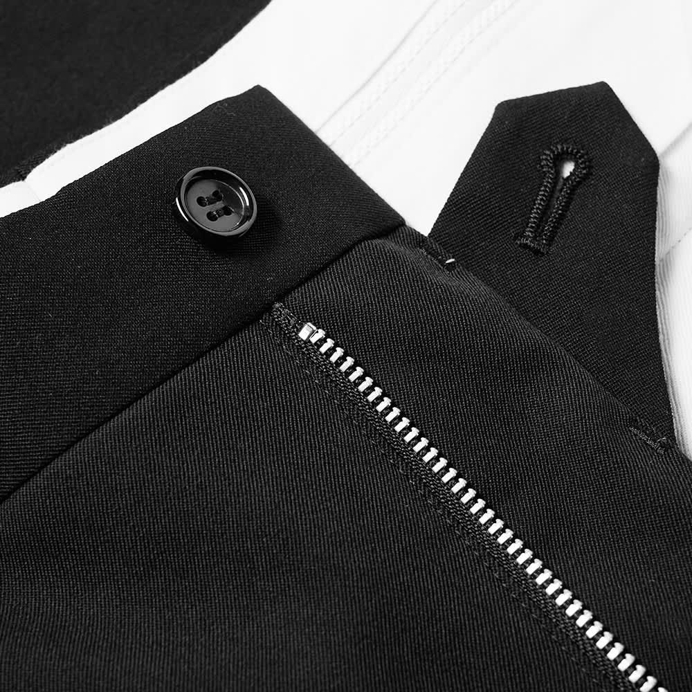 Comme des Garcons Homme Plus Zip Leg Wool Trouser - Black