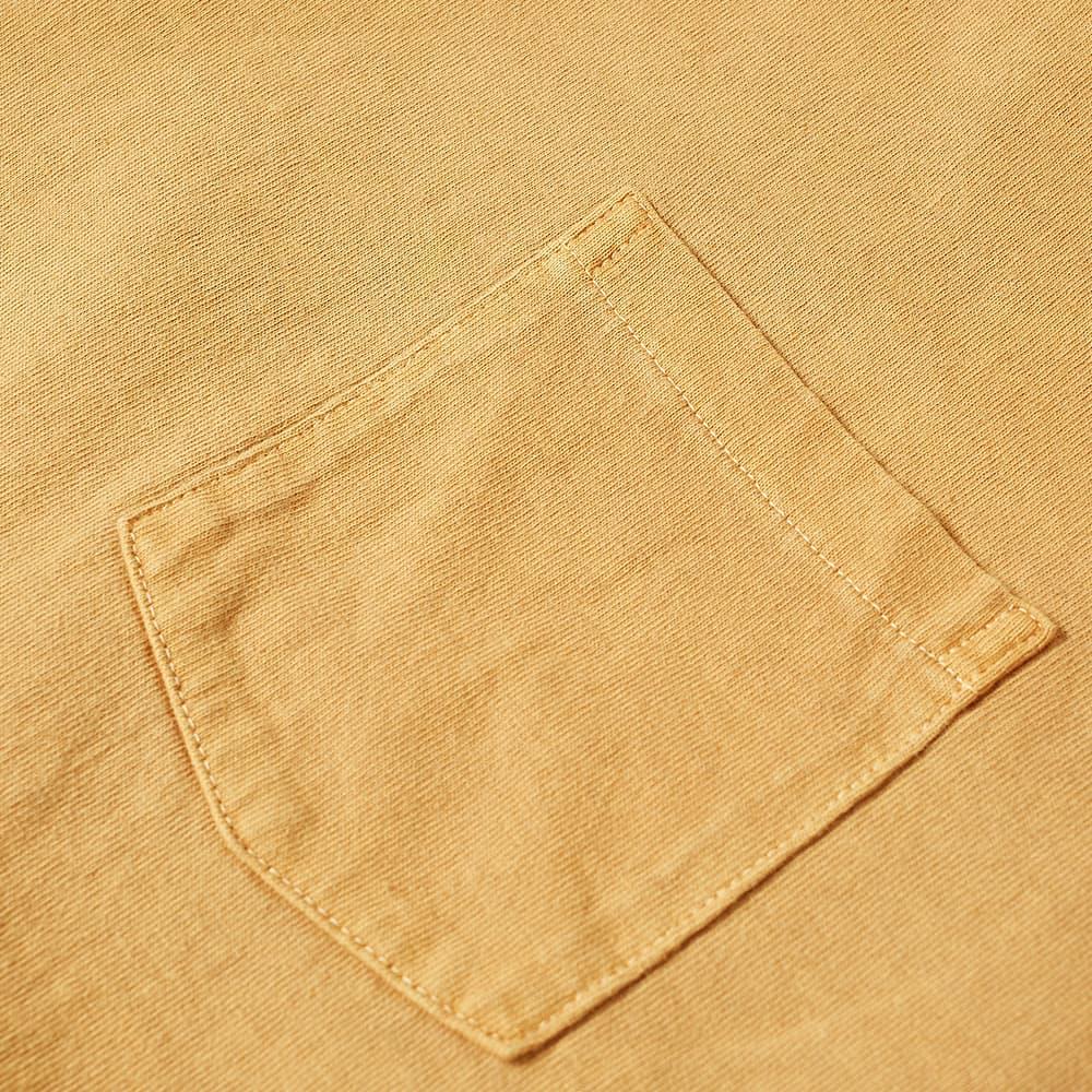 Velva Sheen Long Sleeve Heavyweight Pocket Tee - Cork