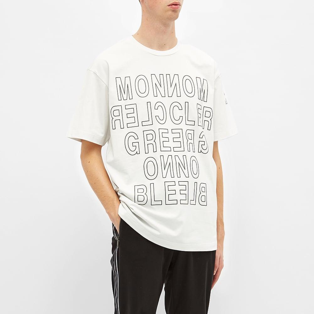 Moncler Grenoble Reverse Text Logo Tee - White