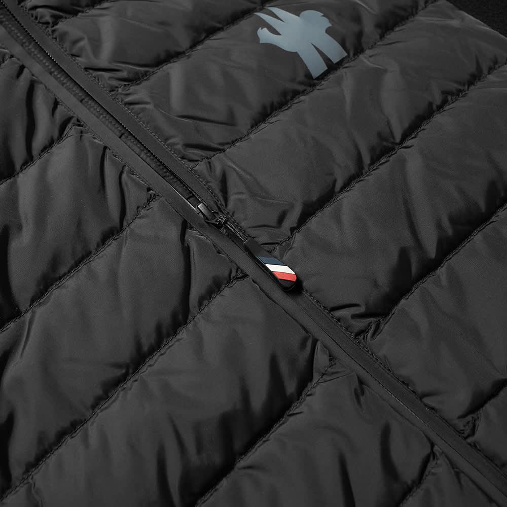 Moncler Grenoble Down Logo Hooded Fleece Jacket - Black
