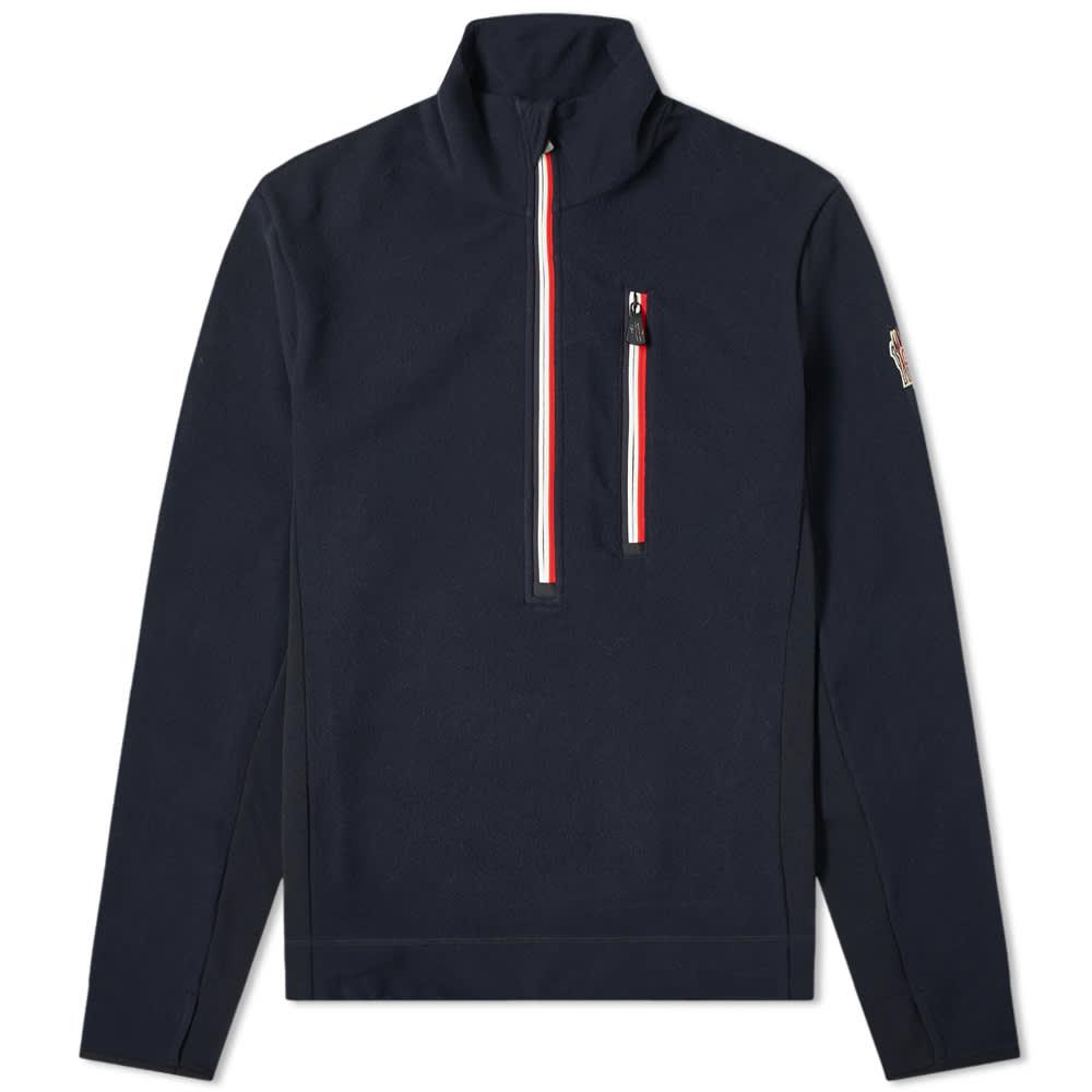 Moncler Grenoble Tricolour Half Zip Fleece - Navy