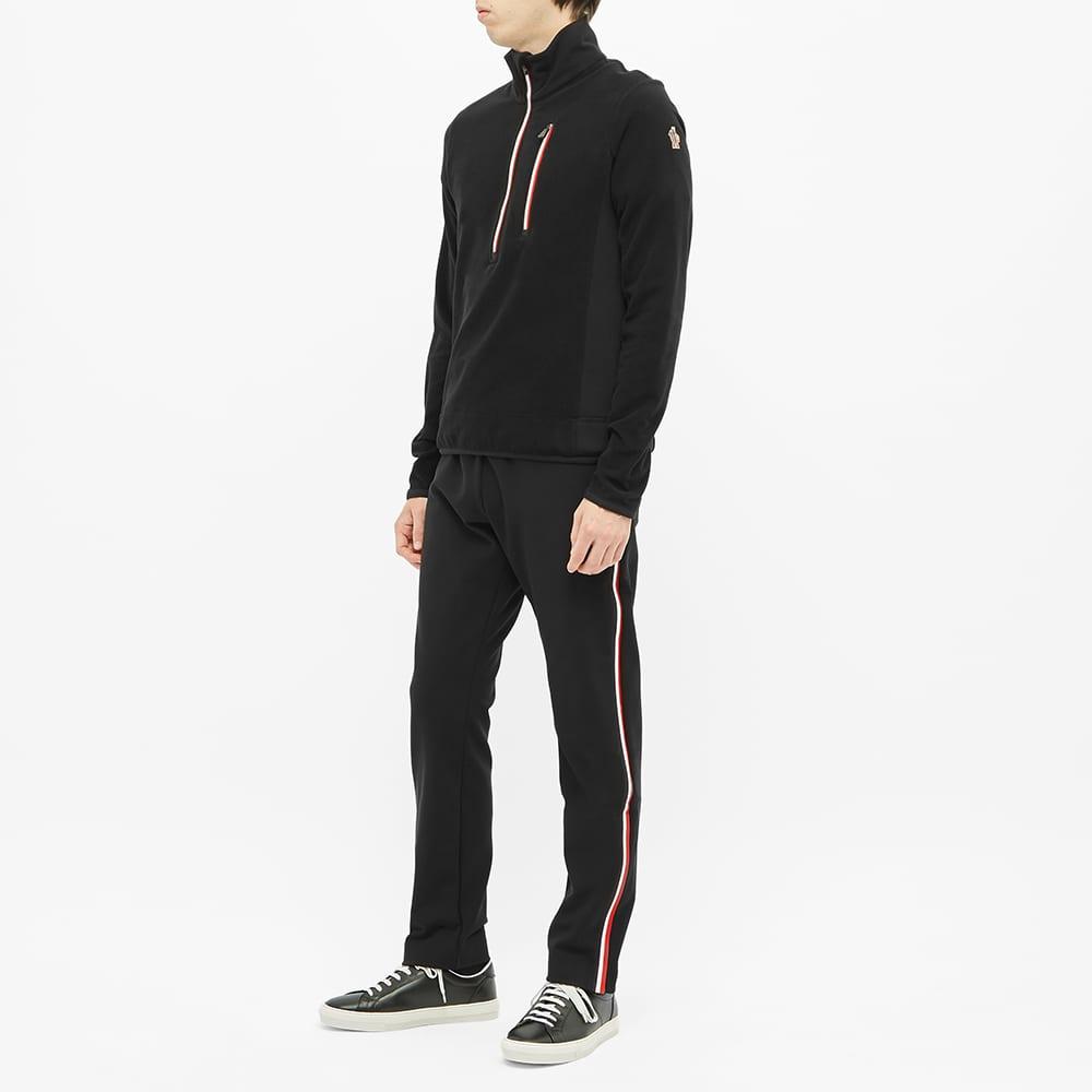Moncler Grenoble Tricolour Half Zip Fleece - Black