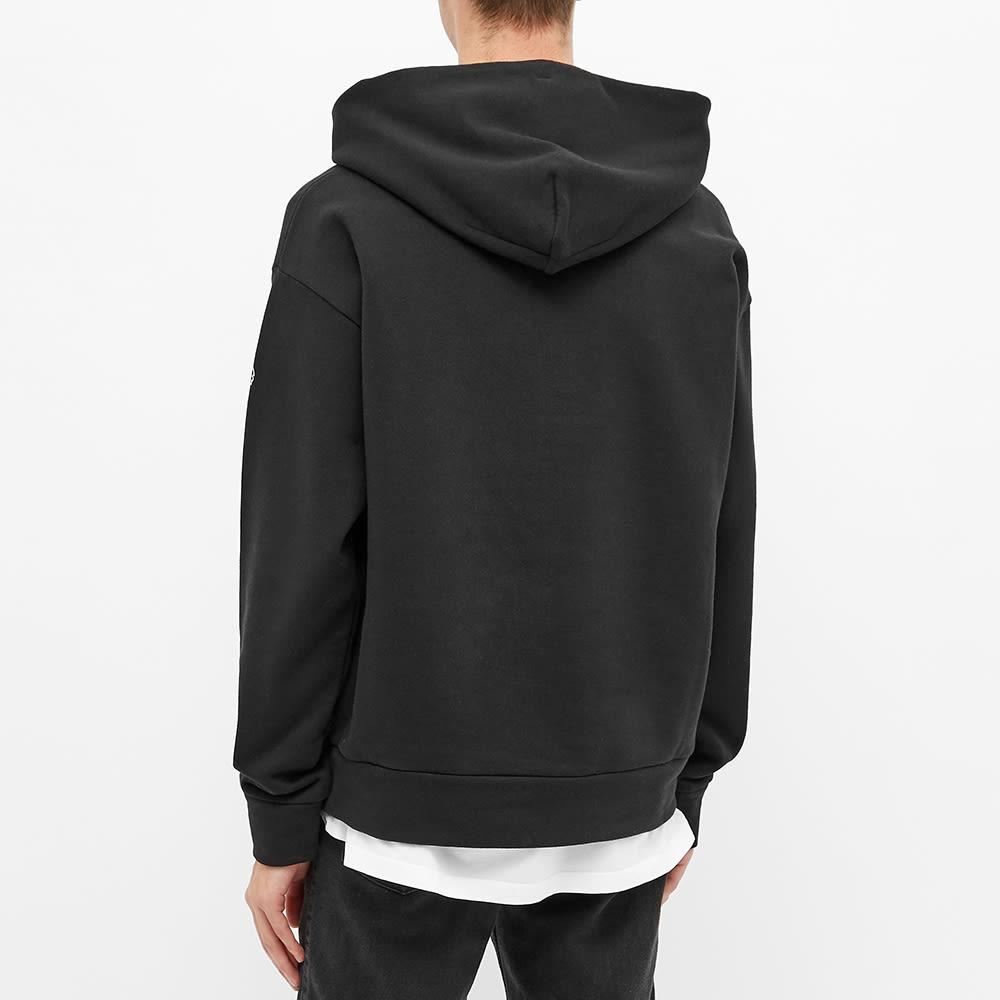 Moncler Grenoble Reverse Text Logo Popover Hoody - Black