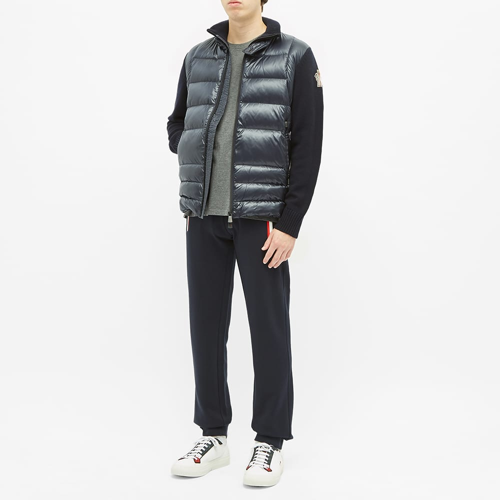Moncler Grenoble Knitted Arm Down Jacket - Navy
