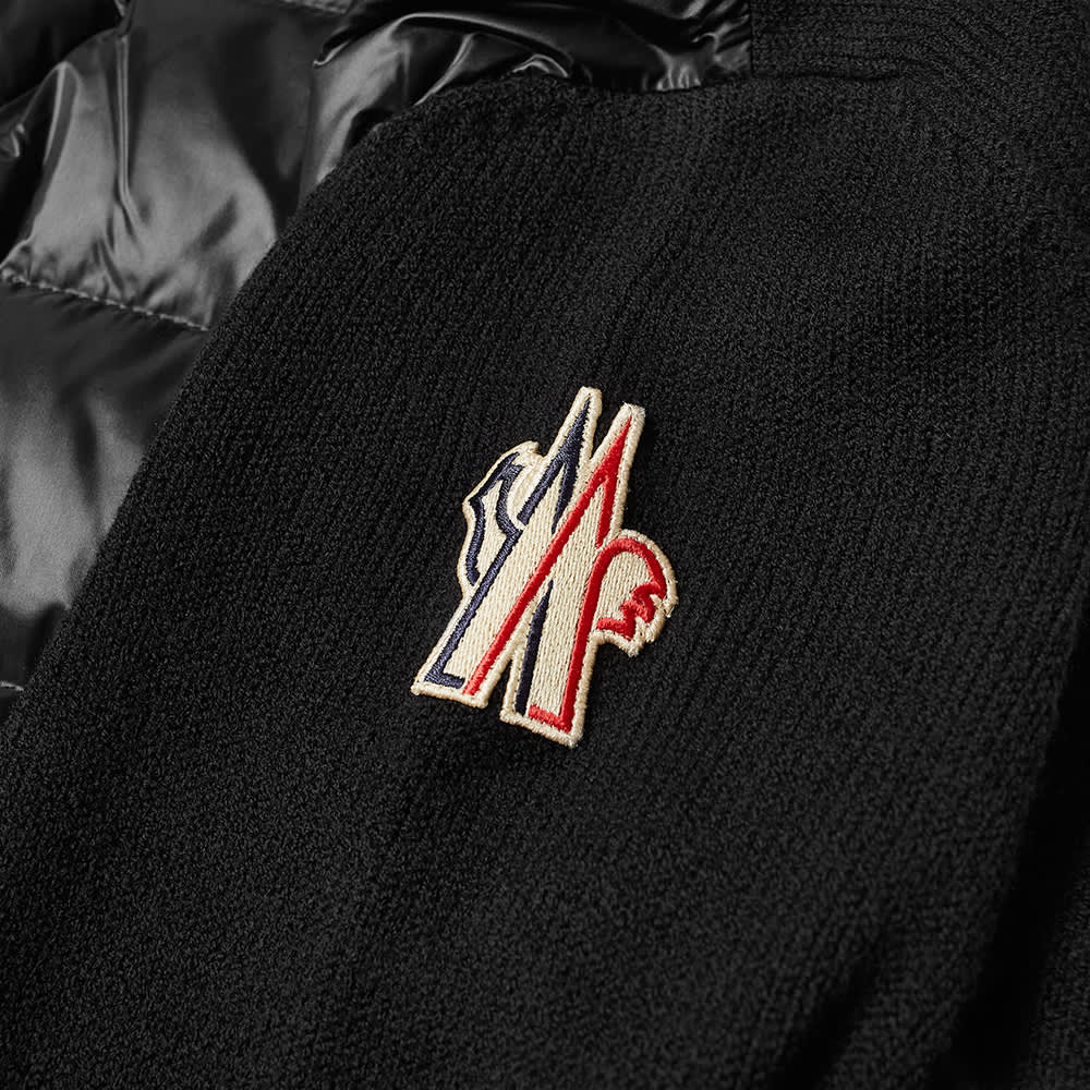 Moncler Grenoble Knitted Arm Down Jacket - Black