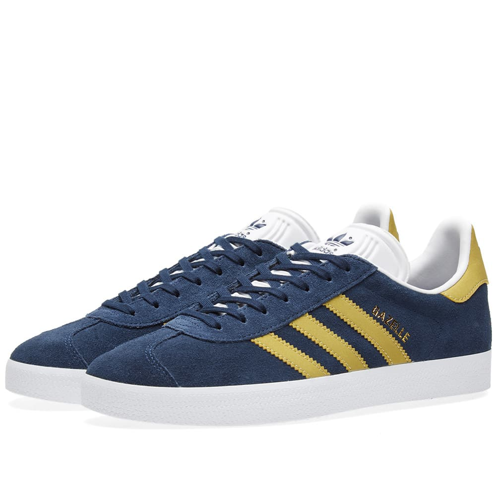 Adidas Gazelle Collegiate Navy \u0026 Gold