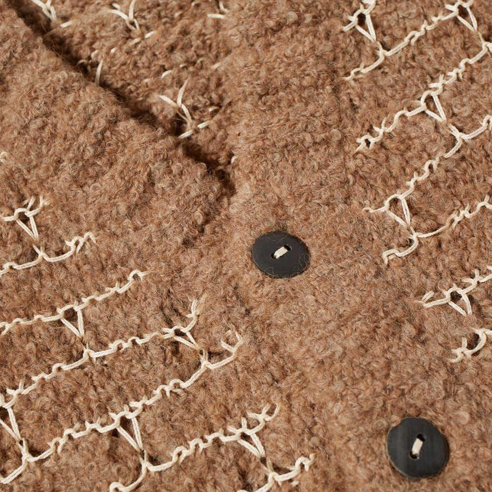Corridor Cloud Stitch Alpaca Cardigan - Brown