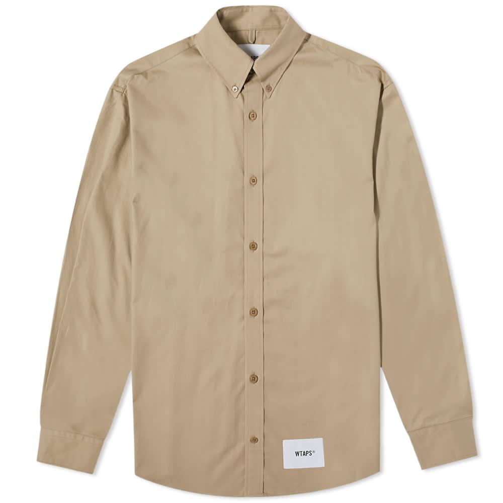 WTAPS Twill Button Down Shirt - Beige