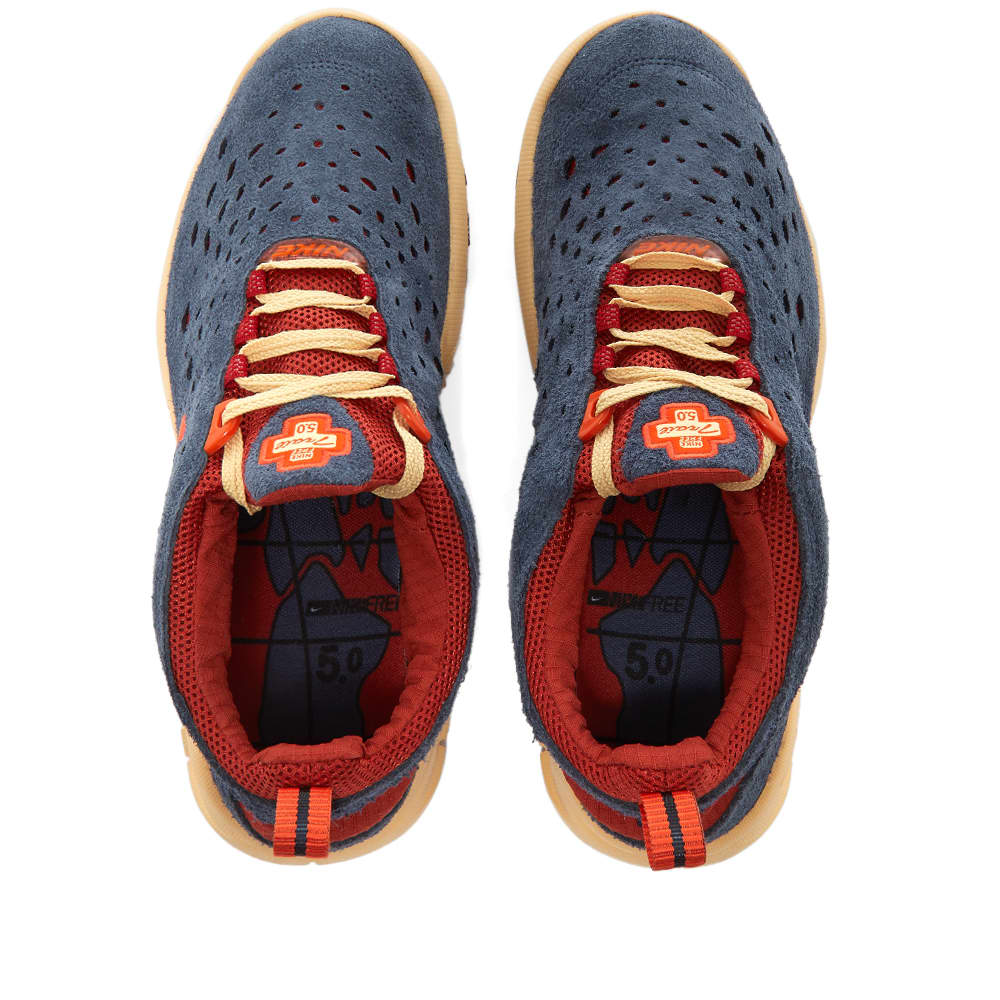 Nike Free Run Trail - Thunder Blue & Orange