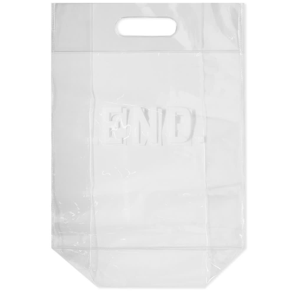 END. PVC Punched-Out Handle Bag - Clear