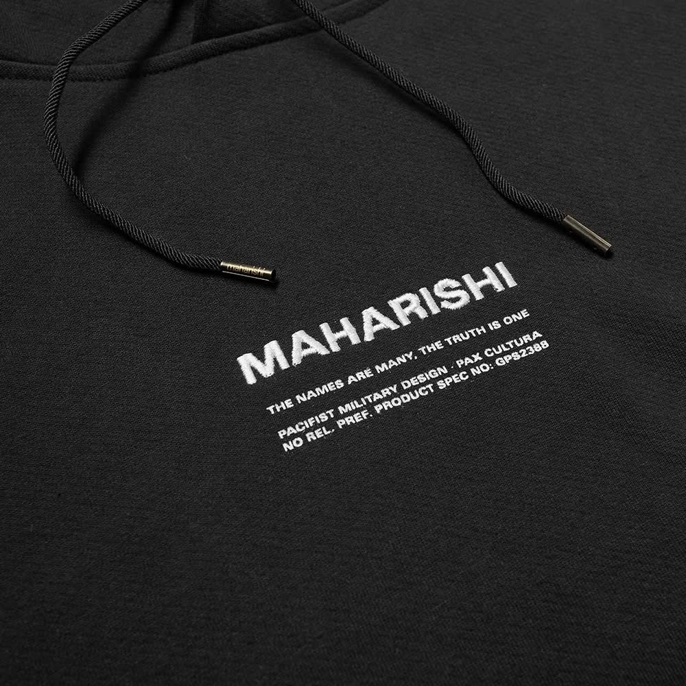 Maharishi Classic MILTYPE Popover Hoody - Black