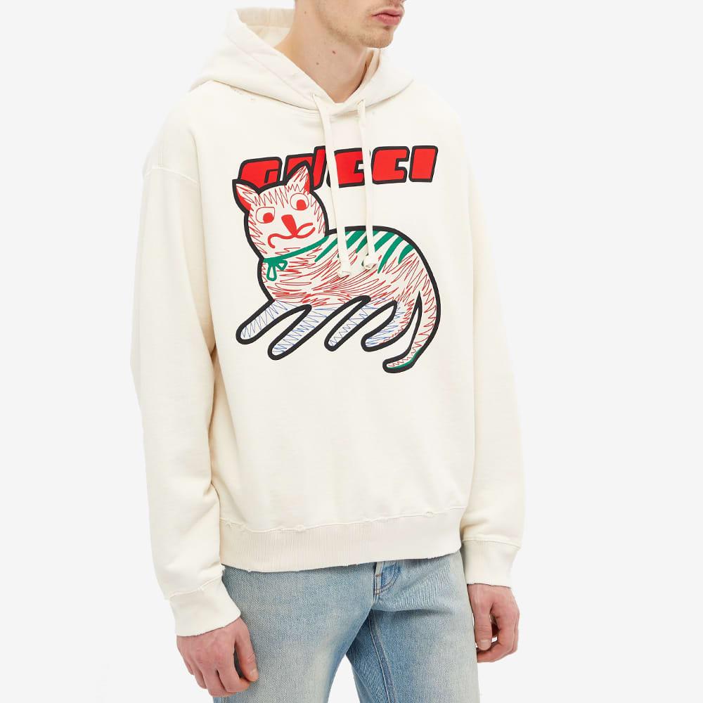 Gucci Cat Logo Hoody - Off White & Multi