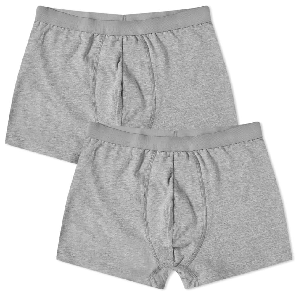 Organic Basics Organic Cotton Boxer Short - 2 Pack - Grey