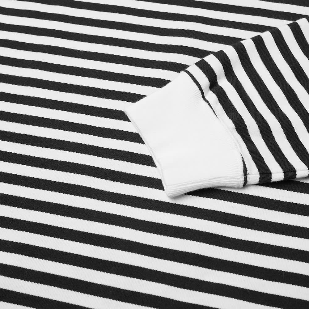 Nanamica Long Sleeve COOLMAX Stripe Tee - Black & White