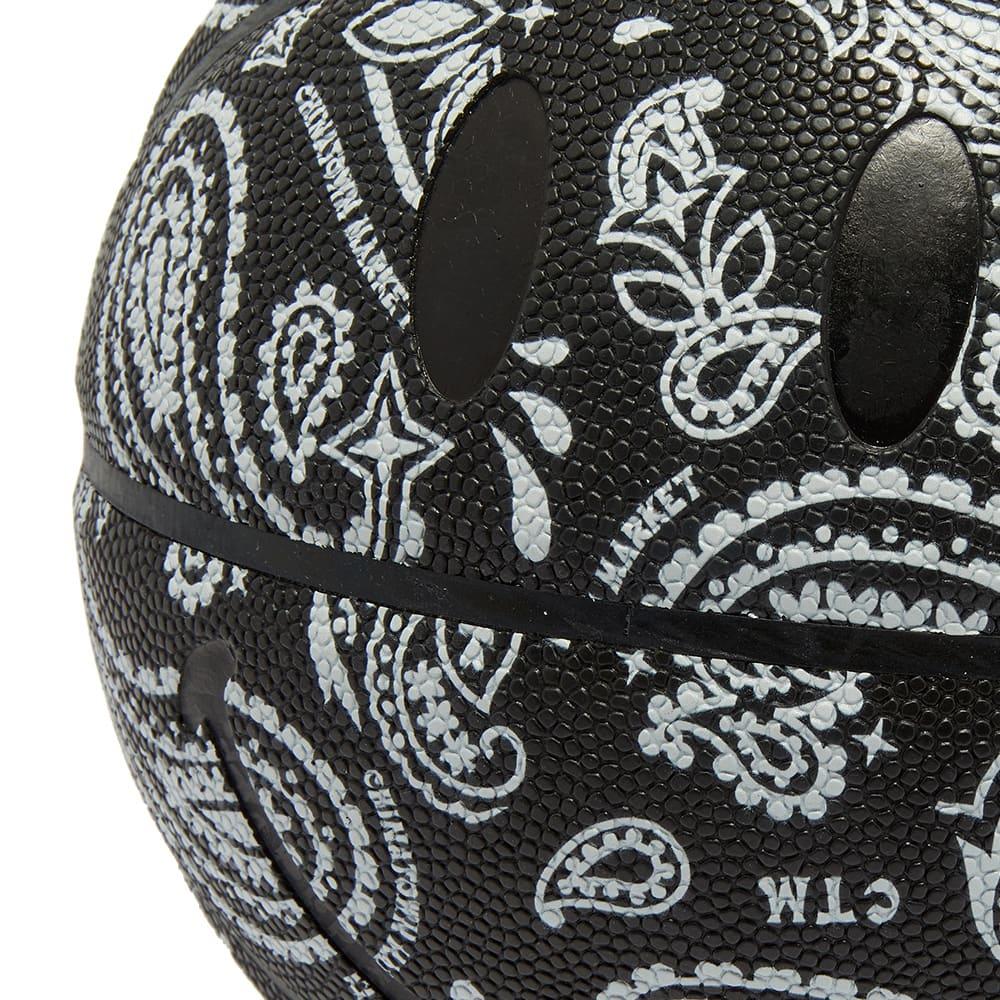 B&W x Chinatown Market Smiley Basketball - Black