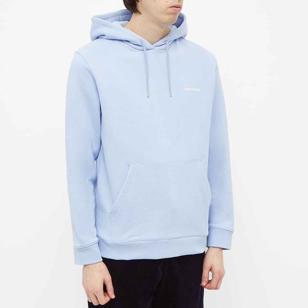 Norse Projects Vagn NP Logo Hoody - END. Exclusive - Clouded Blue