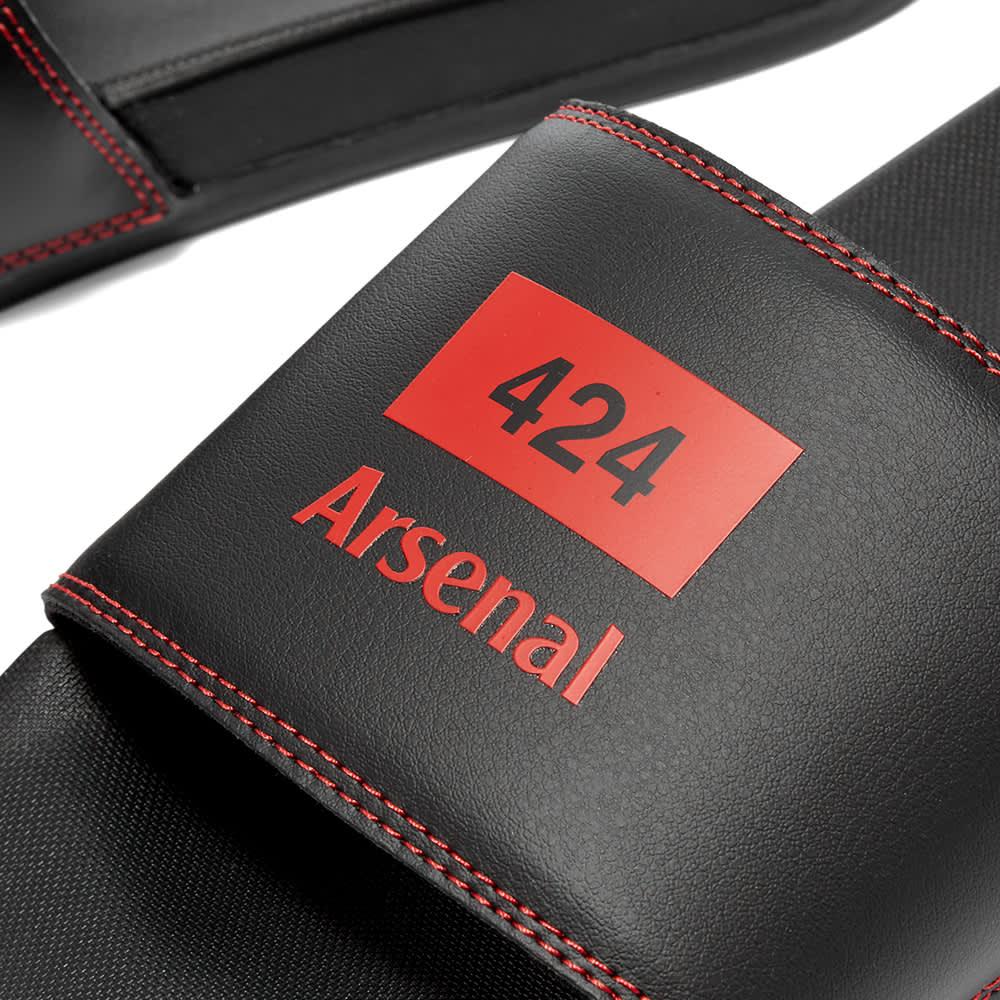 Adidas x 424 x Arsenal F.C. Adilette - Black & Scarlet