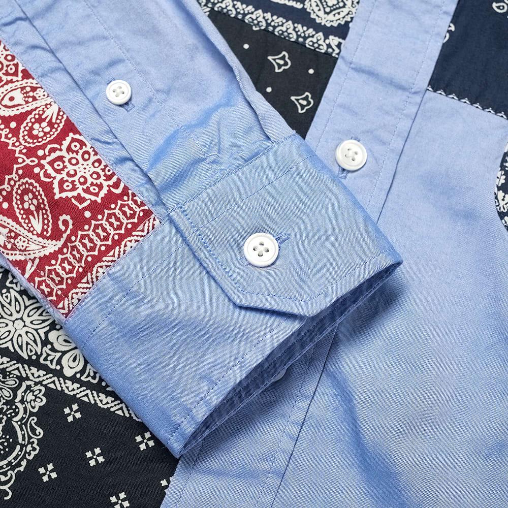 SOPHNET. Patchwork Button Down Shirt - Blue