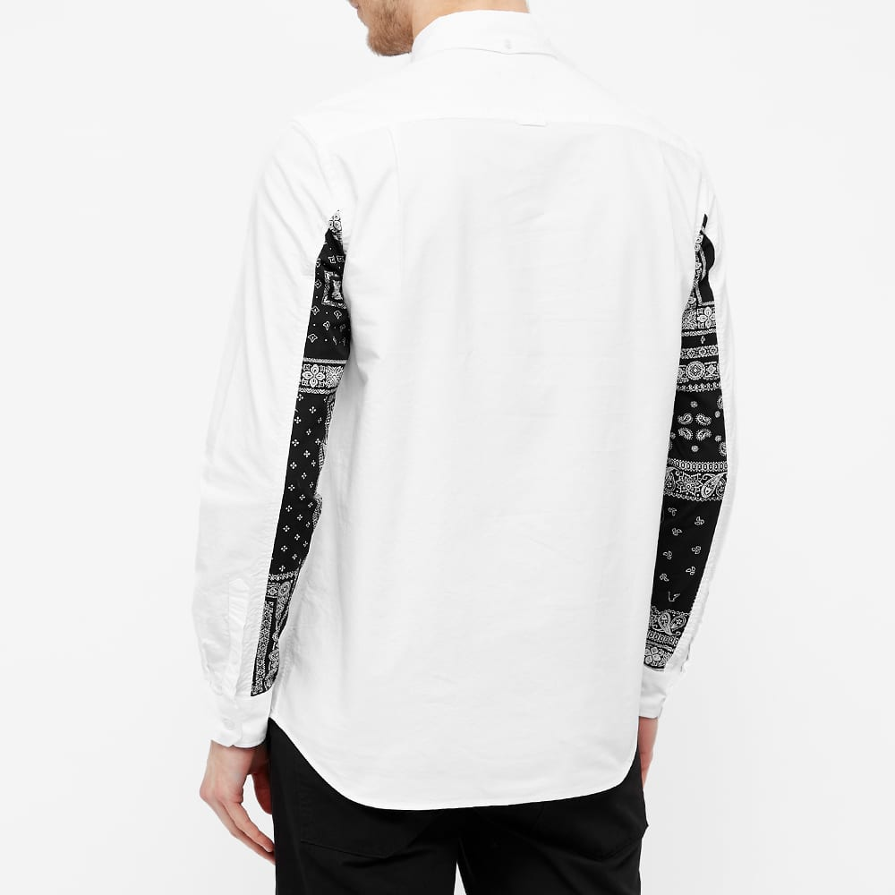 SOPHNET. Panelled Sleeve Button Down Shirt - White
