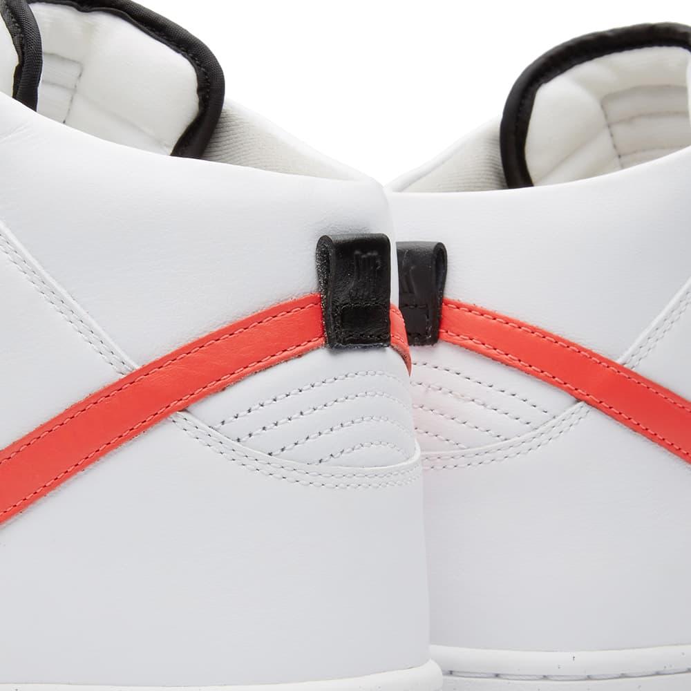 Nike x UNDFTD Dunk Lux - White, Infrared & Black