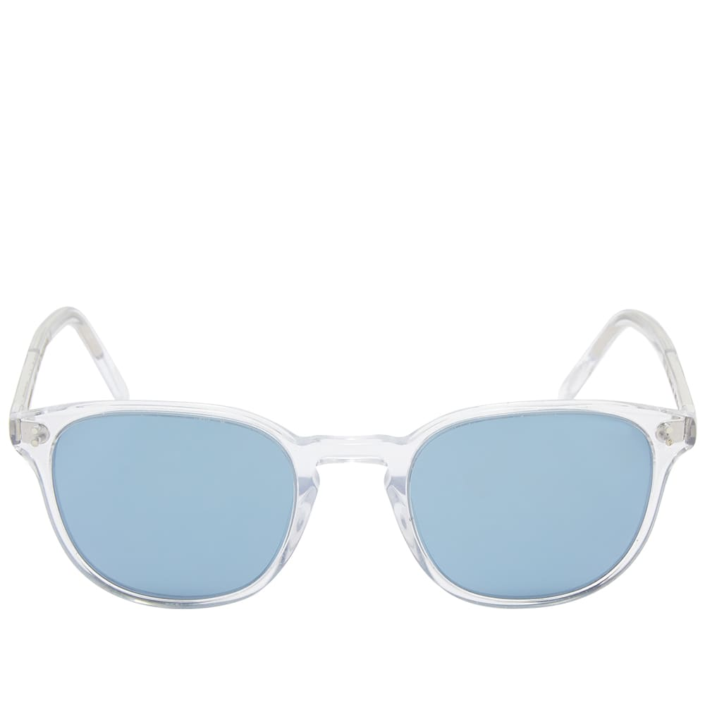 Oliver Peoples  Fairmont Sunglasses - Crystal & Blue