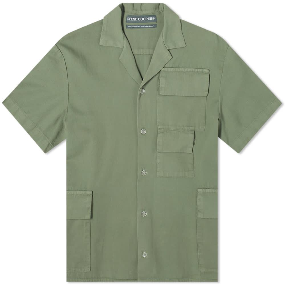 Reese Cooper Short Sleeve Cotton Cargo Shirt - Sage