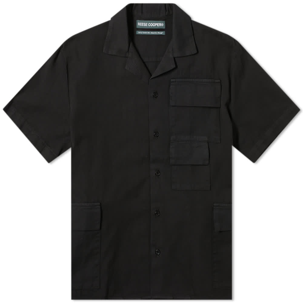 Reese Cooper Short Sleeve Cotton Cargo Shirt - Black