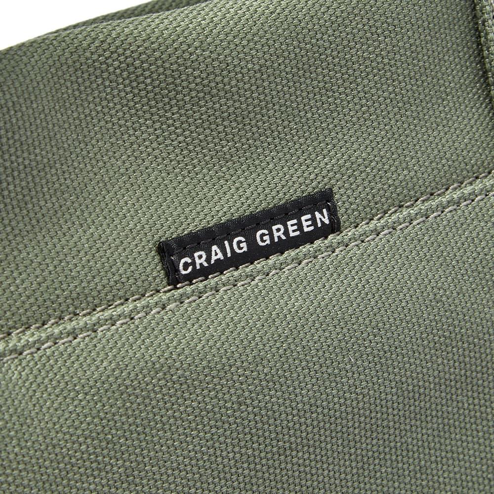 5 Moncler Craig Green Lightweight Logo Tote Bag - Olive