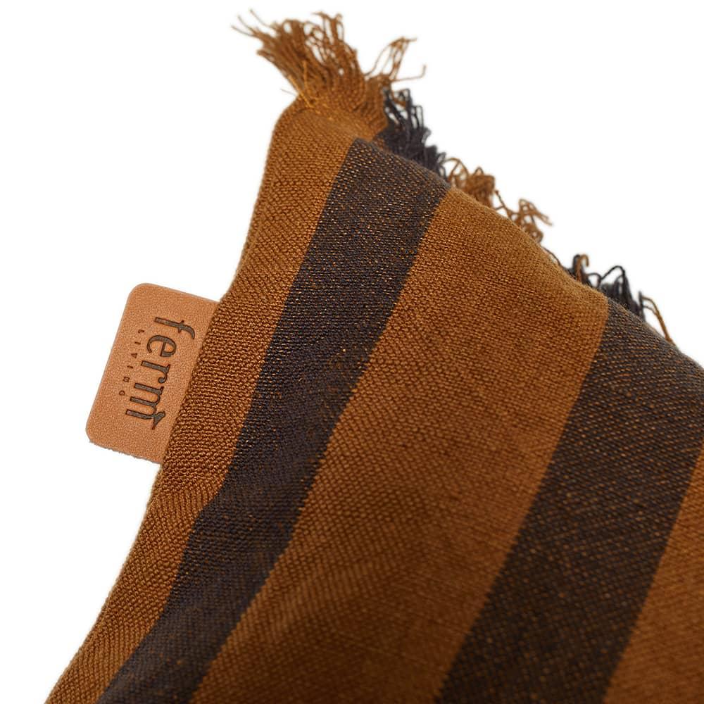 Ferm Living True Cushion - Brown Stripe