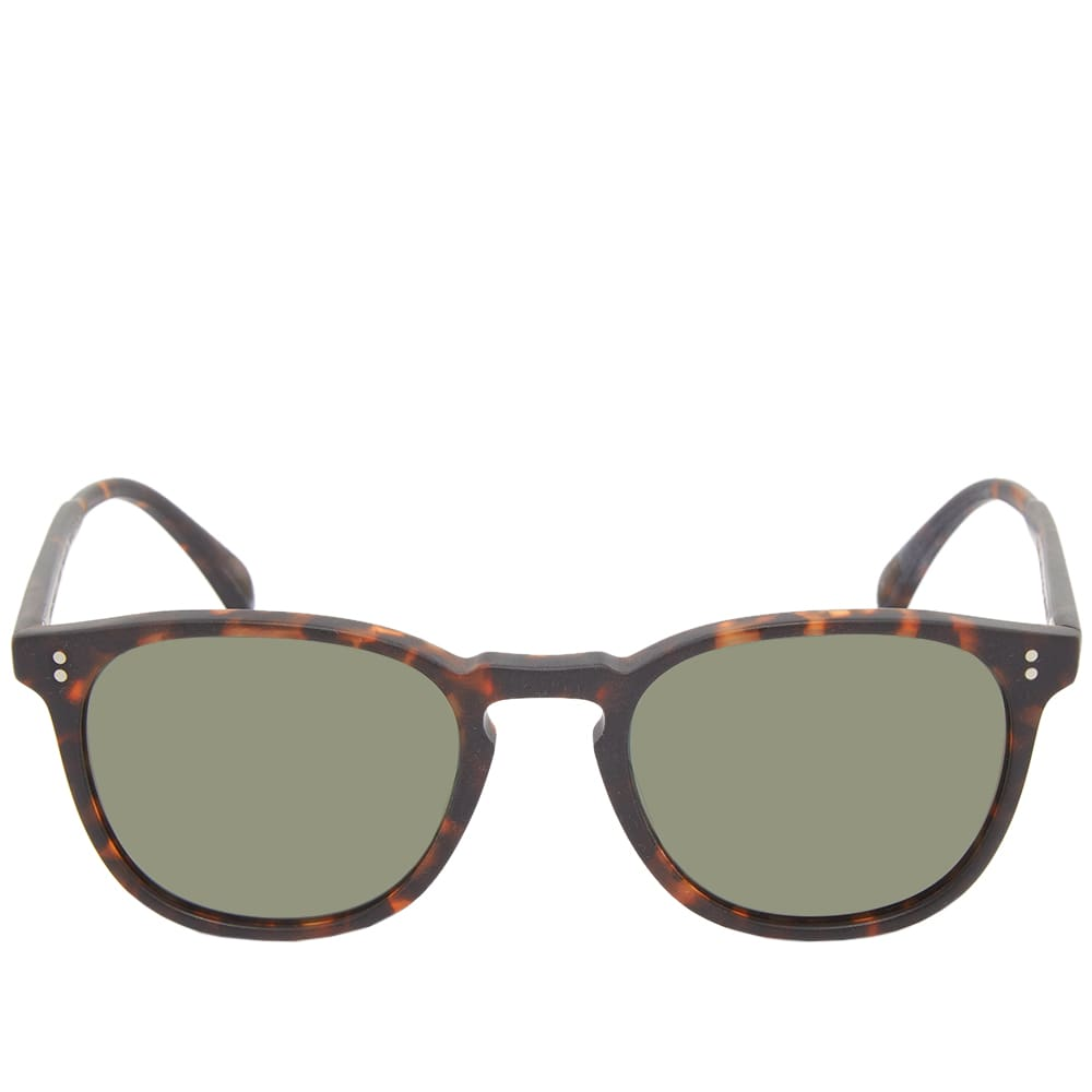 Oliver Peoples  Finley Sunglasses - Tortoise & Green