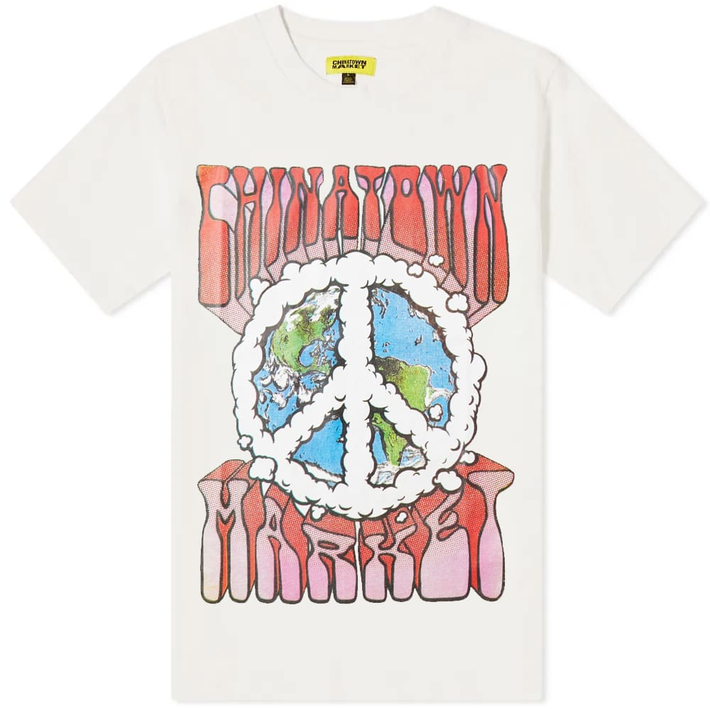 Chinatown Market Peace On Earth Clouds Tee - Cream