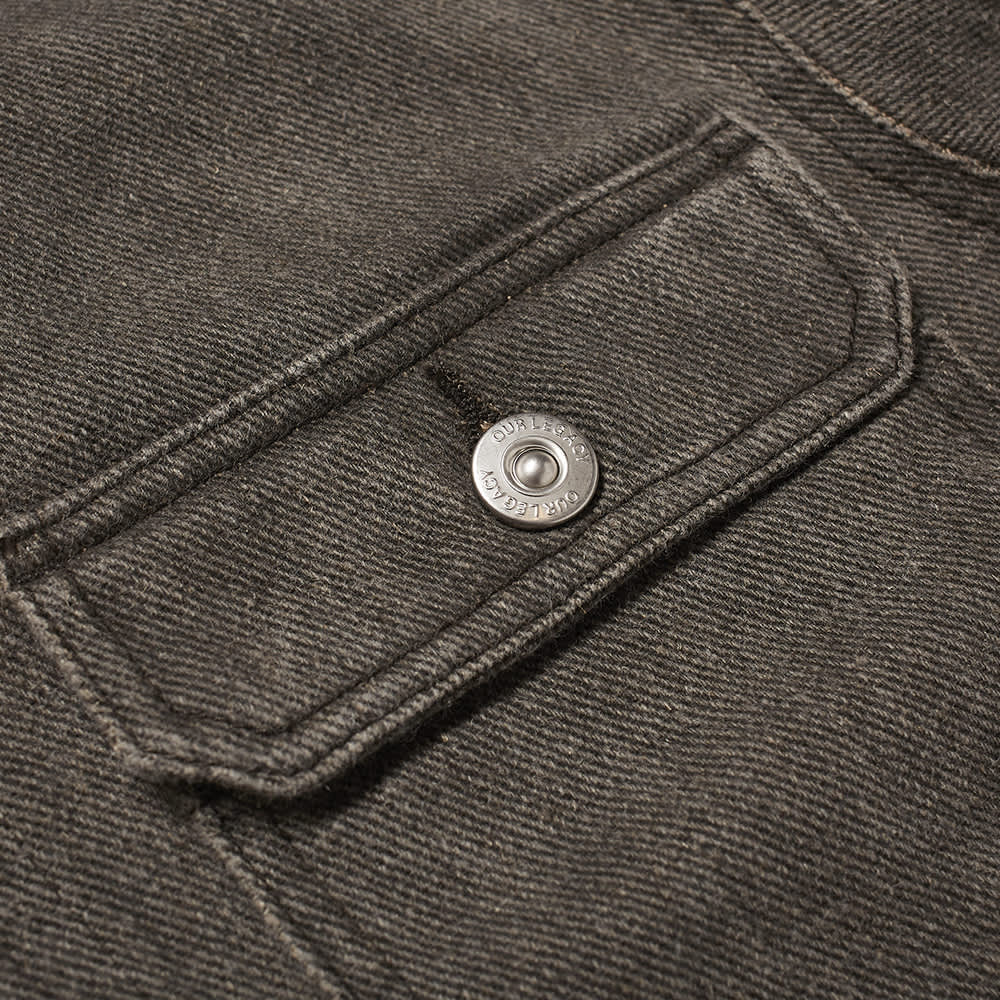 Our Legacy Mono Denim Jacket - Coated Linen Denim