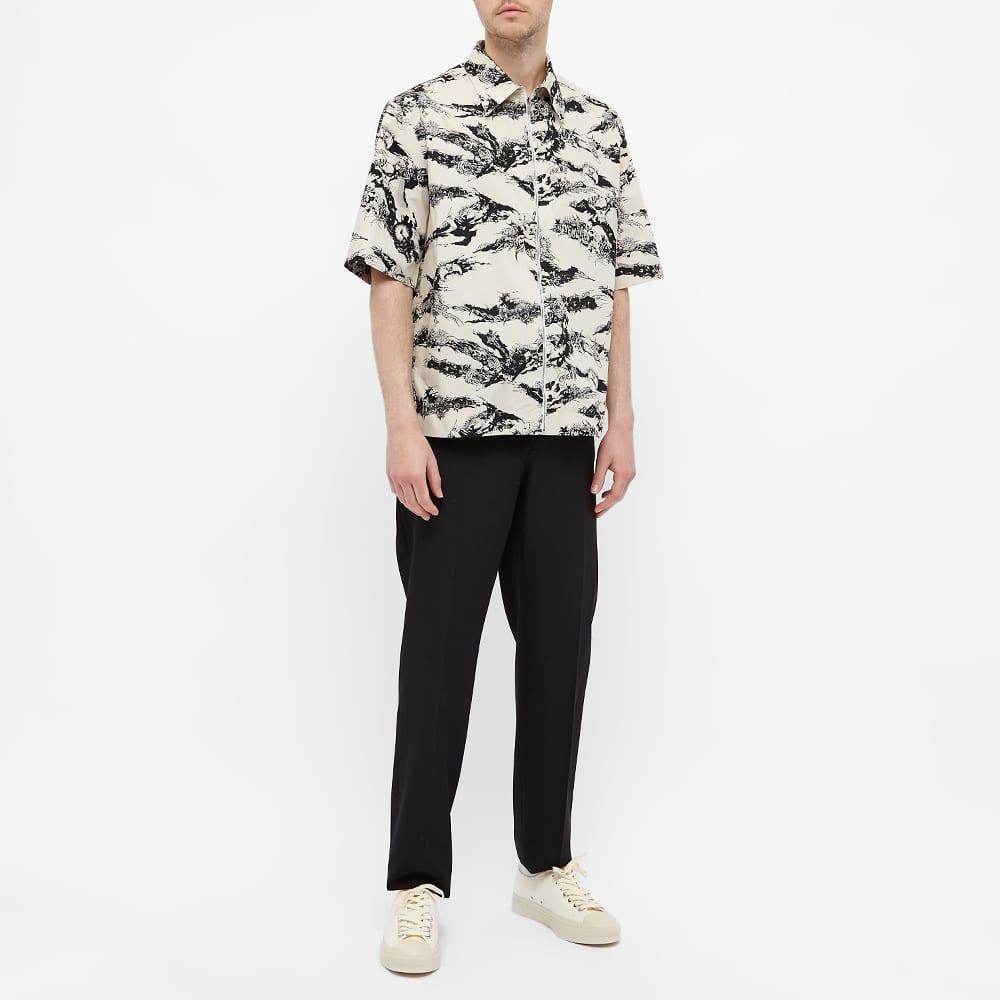 Givenchy Tiger Camo Short Sleeve Zip Shirt - Natural & Black