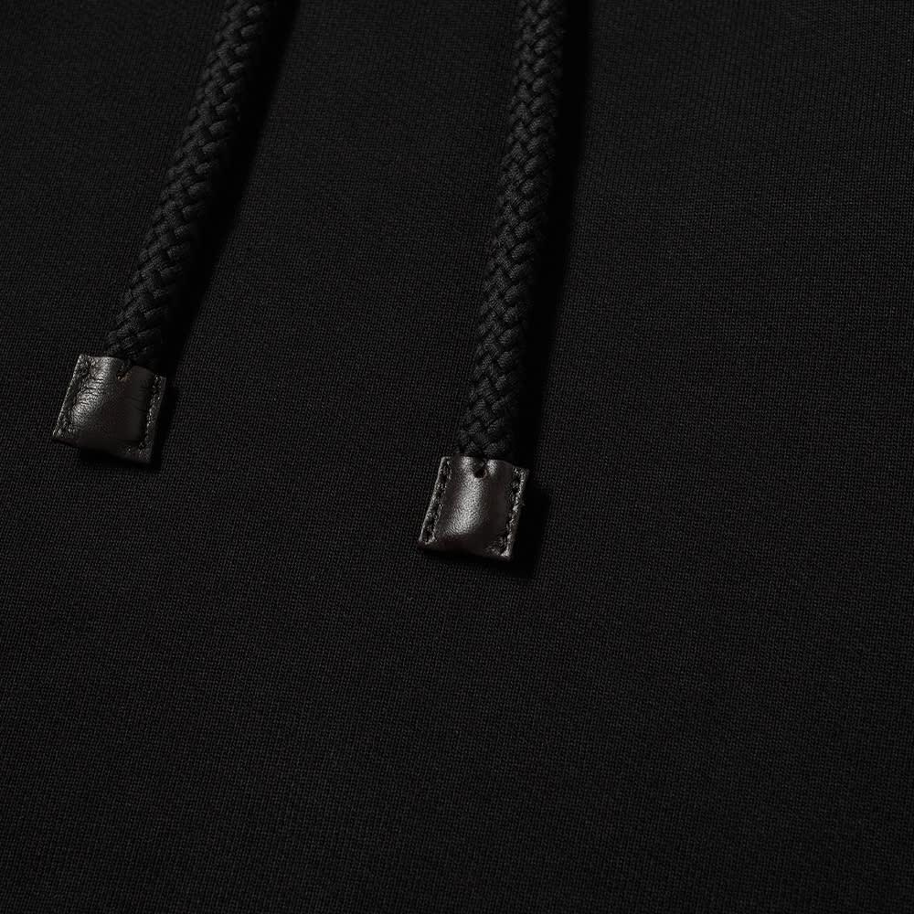 Loewe Anagram Leather Patch Hoody - Black