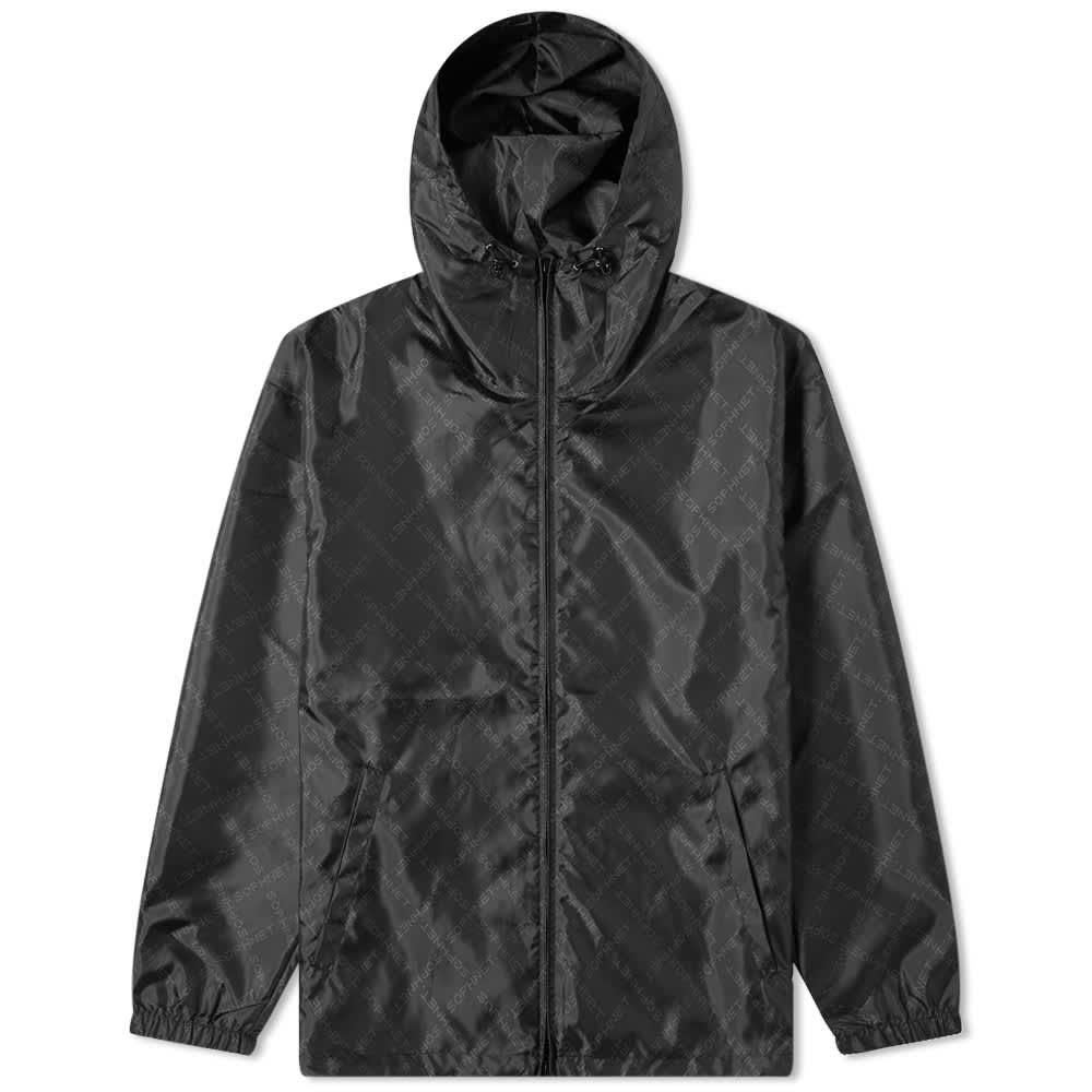 SOPHNET. Monogram Hooded Jacket - Black