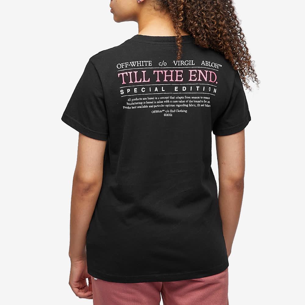 END. x Off-White Till The End Tee - Black & Fuchsia